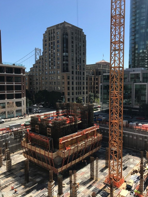 Transbay Block 1 Tower Under Construction