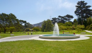 SF Botanical Gardens Fountain Plaza