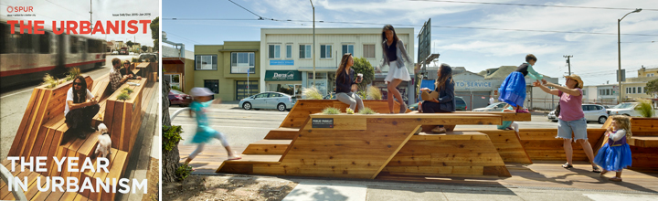 Sunset Parklet on Cover of SPUR's The Urbanist Magazine