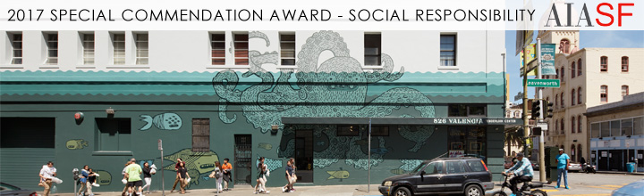826 Valencia Tenderloin Center wins the AIA San Francisco 2017 Special Commendation Award for Social Responsibility